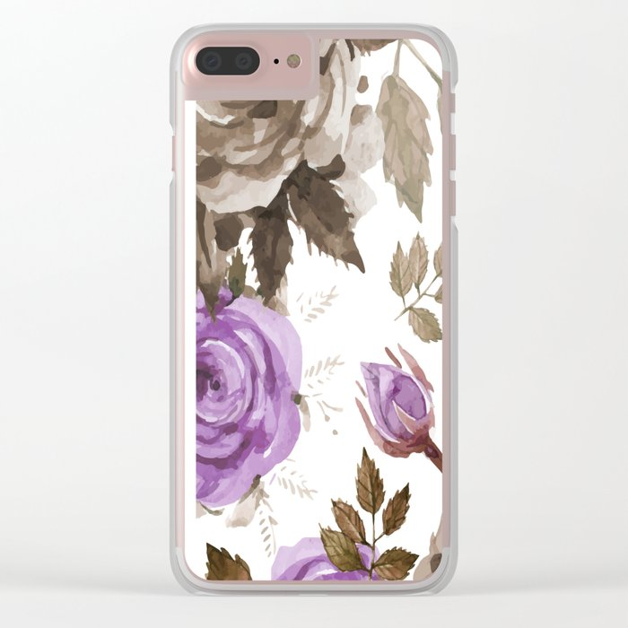 FLOWERS WATERCOLOR 9 Clear iPhone Case