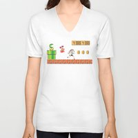lara croft V-neck T-shirts featuring Lara Bros by Marina Portela
