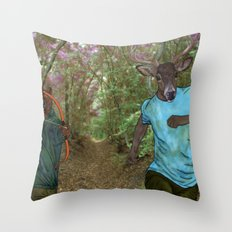 Bear Bow Hunting Throw Pillow