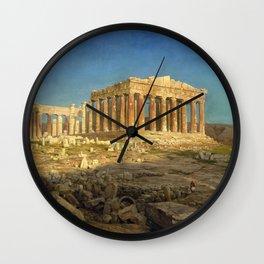 Frederic Edwin Church - The Parthenon - Digital Remastered Edition Wall Clock