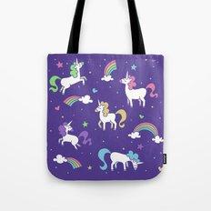 Unicorns and Rainbows - Purple Tote Bag