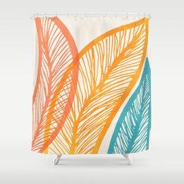 Tropical Flora - Retro Palette Shower Curtain