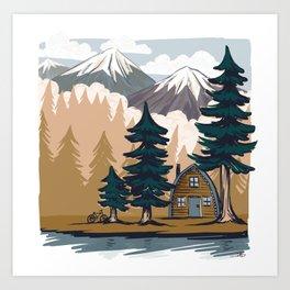 Summer cabin Art Print