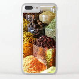 Dubai Creek Spices Clear iPhone Case