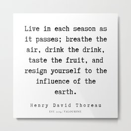 25    Henry David Thoreau Quotes    190715   Metal Print