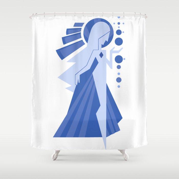 Blue Diamond Shower Curtain