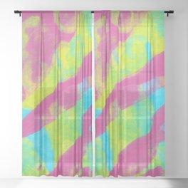 Summer Splash XL Sheer Curtain