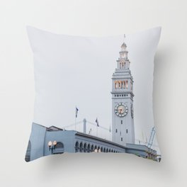 At the Ferry Building in San Francisco Throw Pillow