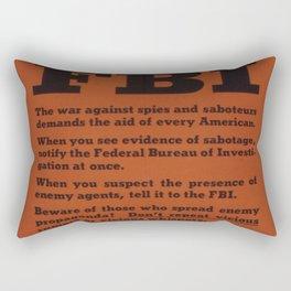 Vintage poster - Warning from the FBI Rectangular Pillow