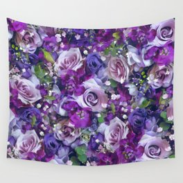 Romantic flowers III Wall Tapestry