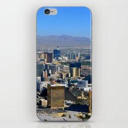 Las Vegas Nevada aerial work A iPhone Skin