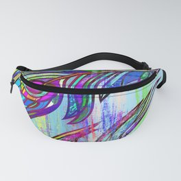 Colorful peacock feathers print Fanny Pack