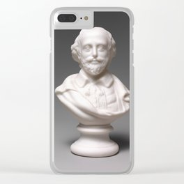 Vintage William Shakespeare Sculpture Photograph (1870) Clear iPhone Case