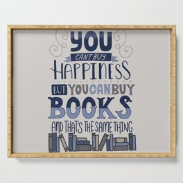 Happiness and Books Serving Tray