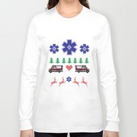 nordic Long Sleeve T-shirts featuring Nordic Paramedic by Gregovsky D.