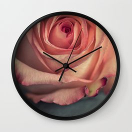 Pink pastel rose Wall Clock