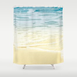 Kapalua Beach dream colours sparkling golden sand seafoam Maui Hawaii Shower Curtain