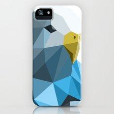 Geometric blue parakeet iPhone (5, 5s) Slim Case