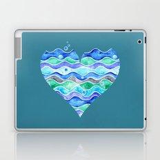A Sea of Love (blue) Laptop & iPad Skin