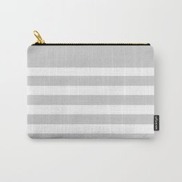 Gray Bretton Stripe Art Carry-All Pouch