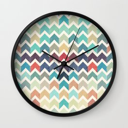 Watercolor Chevron Pattern Wall Clock