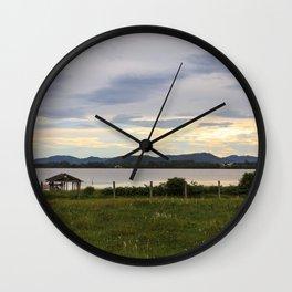 Rosa Sunset  Wall Clock