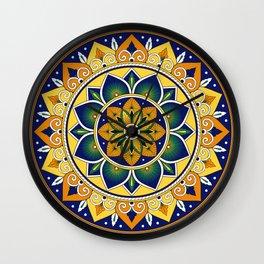 Italian Tile Pattern – Peacock motifs majolica from Deruta Wall Clock