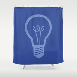BlueLight Bulb Shower Curtain