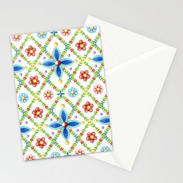 Millefiori Heraldic Lattice Stationery Cards