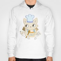baking Hoodies featuring Cat is baking a Cake by Camart