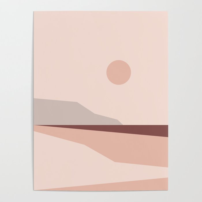 Abstract Landscape 02 Poster