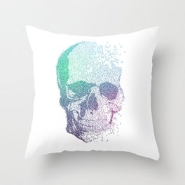 Melodic Skull Throw Pillow