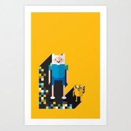 finn the pixel Art Print
