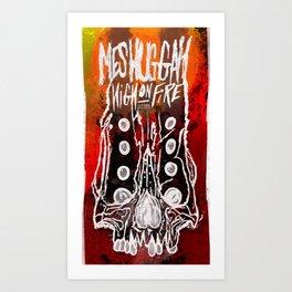 Meshuggah and High on Fire live in Berlin  — November 2016 Art Print