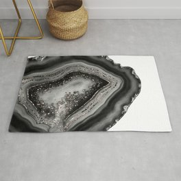 Agate Rose Gold Glitter Glam #5 #gem #decor #art #society6 Rug