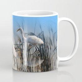 White Egrets in a Morning 1 Coffee Mug
