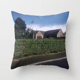 England Art Print * 1950's * Mary Arden * Shakespeare * Stratford upon Avon * Vintage Photo * Color Throw Pillow