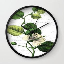Botanical Flower No2 Wall Clock