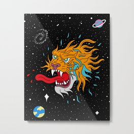 FLAME TIGER Metal Print