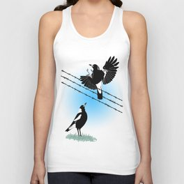 Magpies: learn to fly Unisex Tank Top