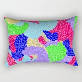 Multicolor Paisleys  Rectangular Pillow