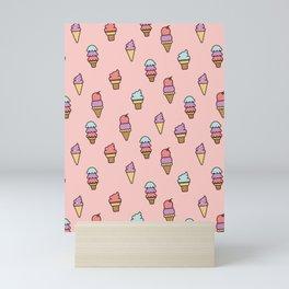Summer Ice Cream Cone Pattern Mini Art Print