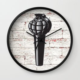 ...microphonic fragmentality... by rmd Wall Clock