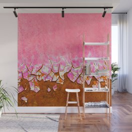 Pink and Rust Wall Mural