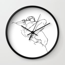 Nude Lying Down Wall Clock