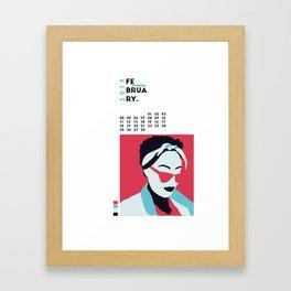 Calendar 2019 February Framed Art Print