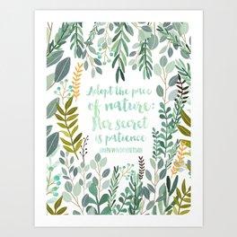 Emerson Quote Art Print