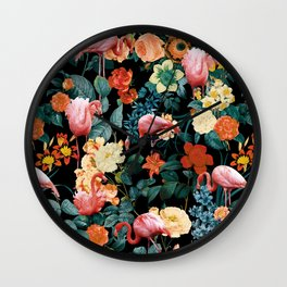 Floral and Flemingo II Pattern Wall Clock