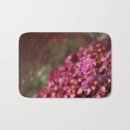 Colorful Pink Flowers Bath Mat