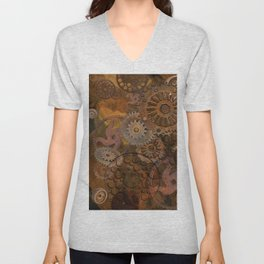 Changing Gear - Steampunk Gears & Cogs Unisex V-Neck